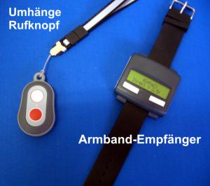 Armband-Pager (Empfänger) mit Umhängerufknopf