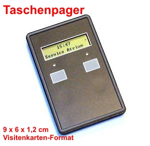 Taschenpager-Stapelbar