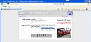Pager-Software für den Einsatz im Logistik-Bereich bei Speditionen