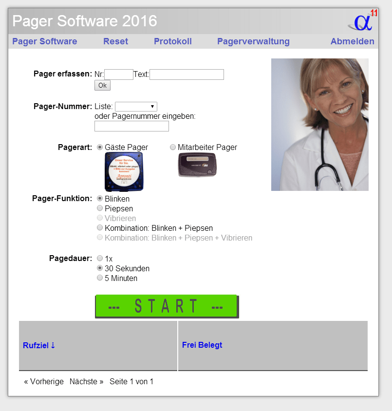 Pager-Software für LRS-Pager