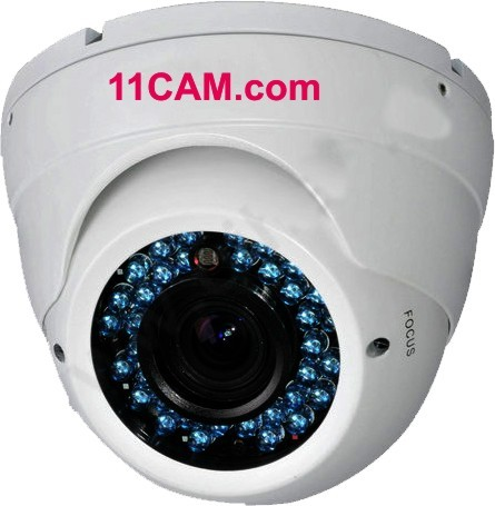 Vandalismus-Kamera mit Vario-Objektiv im Dome-Gehäuse