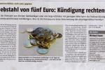Diebstahl von 5 Euro Kündigung rechtens