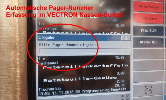 Vectron-Pagernummer-Abfrage