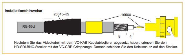 BNC-Koax-Stecker-Abisolieren