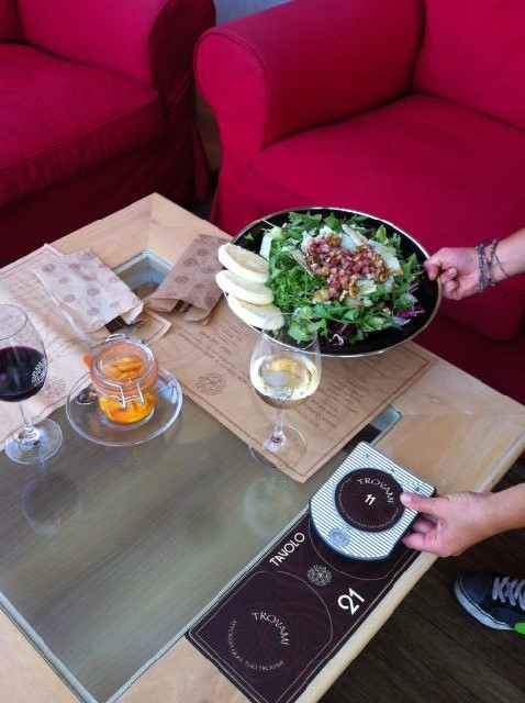 Table-Tracker Markierung am Tisch