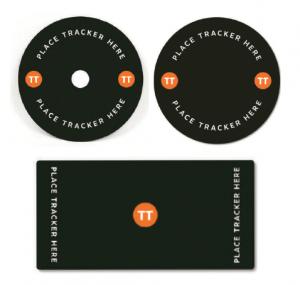 Tischauflage, bei dem unterhalb die RFID-Tags angebracht sind.