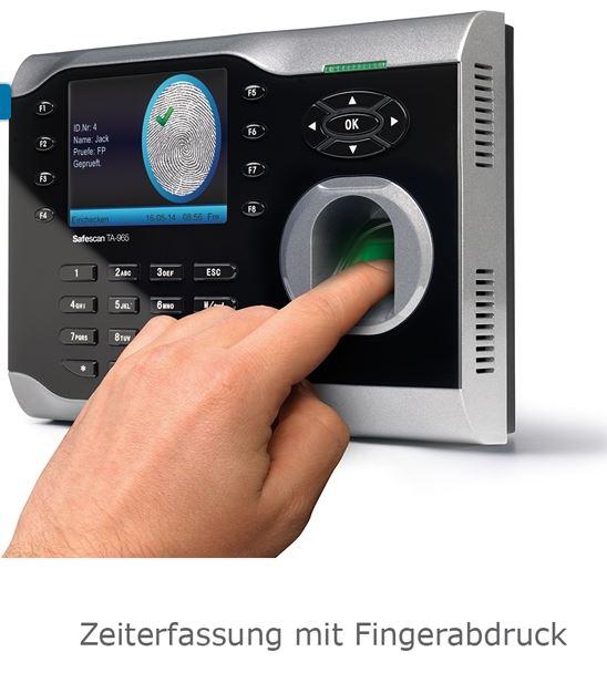 Zeiterfassungssystem mit Fingerabdruck