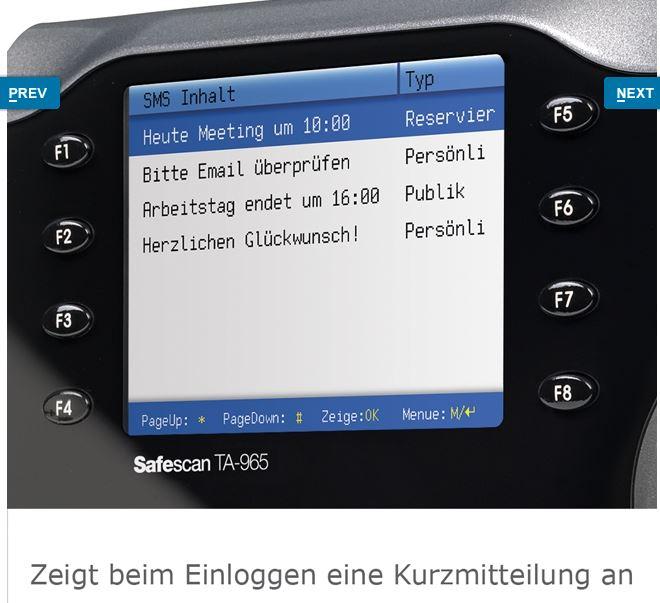 RFID-Zeiterfassung-Stempeluhr-Safescan-965-Kurzinfo-nach-Einloggen