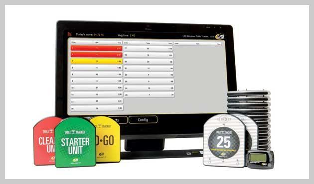 Table Tracker Software mit Starter-Einheit, Clearing-Einheit, To-To Einheit und auf der rechten Seite den Table Trackern