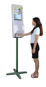 Seifenspender-Monitor mit freiem Aufsteller