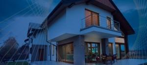 Schutz-Haus-Nachtansicht