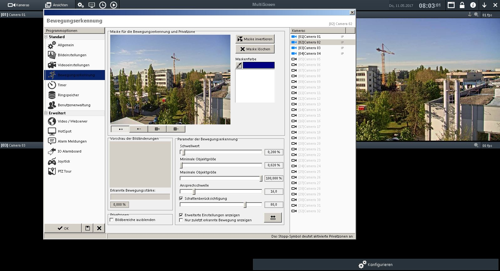 VideoControl Net - Bewegungserkennung