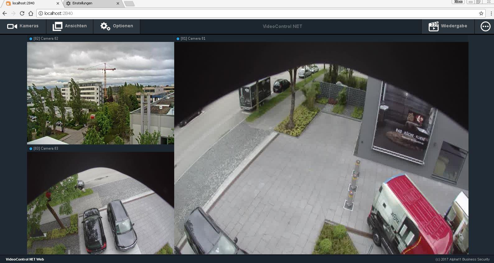 Web-Zugriff VideoControl-NET Alpha11