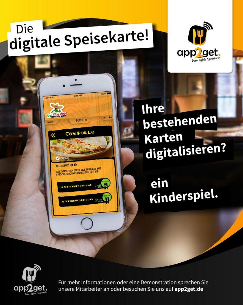 Digitale Speisekarte spart enorm Kosten in der Gastronomie
