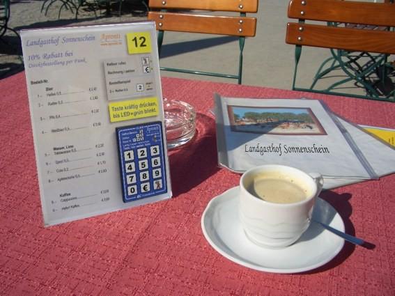 Apronti Funk-Tastatur als Bestellsystem für den Gast mit Kellner-Ruf und Zahltaste