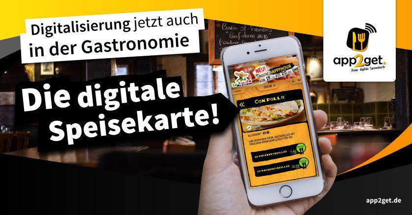Die neue digitale Speisekarte app2get ist auch auf der Internorga Gastronomie Messe in Hamburg zu sehen
