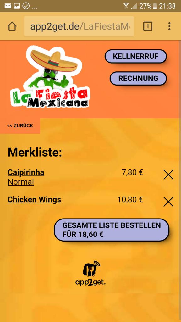 Merk-Zettel für die Digitale Speisekarte - kann auch bei gleich bestellt , oder dem Kellner gezeigt werden
