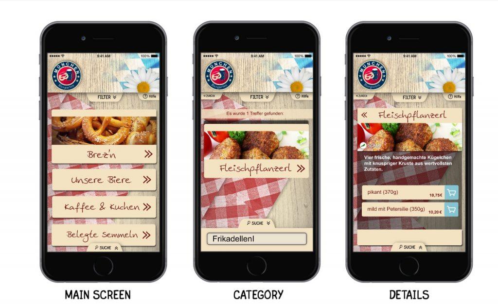 Selbstverständlich ist auch im Biergarten die Digitale Speisekarte app2get einsetzbar