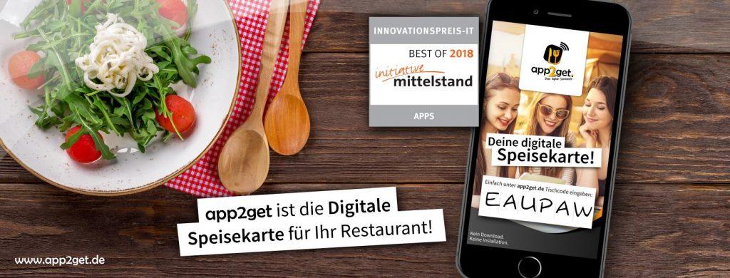 Digitale Speisekarte app2get