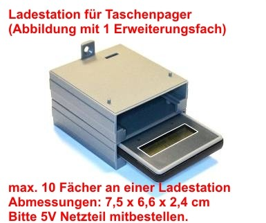 Taschenpager-Ladestation-Stapelbar