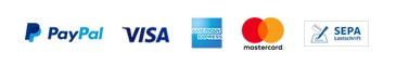 PayPal und Kreditkarten-Zahlunen über PayPal-Plus. Auch das ist mit app2get möglich.