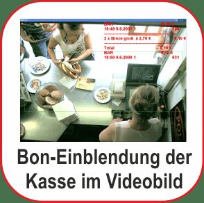 Kassenkontrolle mit Einblendung der Bondaten im Kamerabild