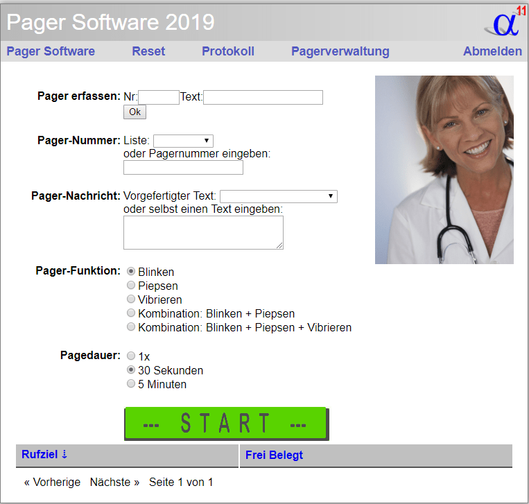 Pager-Software