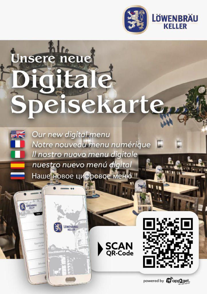 Digitale Speisekarte kann auch mehrsprachig sein